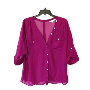 Black Rain medium  button blouse
